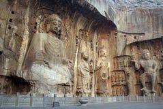 Estatuas de Boedha en las cuevas de Longmen en China foto de archivo