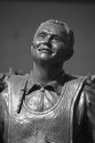 Estatuas de bronce de un saludo nacional a Bob Hope y a los militares Imagen de archivo
