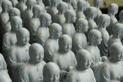 Estatuas de Buda en el templo de Hase-Dera Imagen de archivo libre de regalías