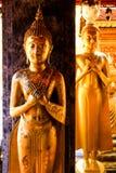 Estatuas de Buda en la actitud de pacífico imágenes de archivo libres de regalías