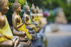 Estatuas de Buda en Seema Malaka Temple, Colombo, Sri Lanka Foco selectivo foto de archivo