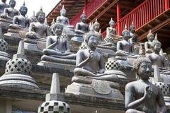 Estatuas de Buddha en el templo de Gangaramaya foto de archivo libre de regalías