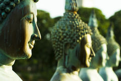 Estatuas de Buddha, isla de Sima Malaka, Colombo Imagen de archivo