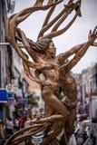 Estatuas de cobre amarillo Foto de archivo libre de regalías