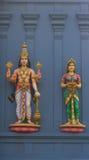 Estatuas de dioses hindúes Vishnu y Lakshmi Imagenes de archivo