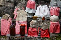 Estatuas de Jizo Fotos de archivo
