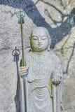 Estatuas de Jizo en el templo de Hase-dera en kamakura Imagenes de archivo