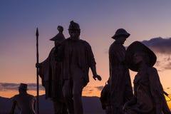 Estatuas de Ketchikan Imagenes de archivo
