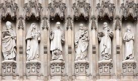 Estatuas de la abadía de Westminster Imagen de archivo libre de regalías