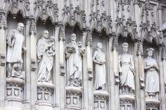 Estatuas de la abadía de Westminster - los mártires del siglo XX Fotografía de archivo libre de regalías