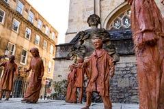 Estatuas de la abadía del baño, Reino Unido Fotografía de archivo libre de regalías