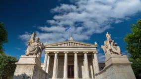 Estatuas de la academia de Atenas almacen de video