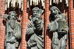 Estatuas de la catedral de La Plata imágenes de archivo libres de regalías