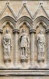 Estatuas de la catedral de Salisbury fotografía de archivo libre de regalías