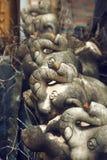 Estatuas de la composición de los elefantes fotografía de archivo