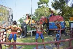 Estatuas de la guerra sobre cultura srilanquesa Foto de archivo