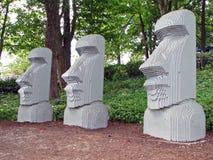 Estatuas de la isla de Lego pascua Fotografía de archivo libre de regalías