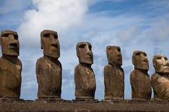 Estatuas de la isla de pascua Fotografía de archivo libre de regalías
