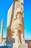 Estatuas de Lamassu en Persepolis, Irán fotografía de archivo
