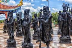 Estatuas de los monjes de Shaolin del chino Imagen de archivo