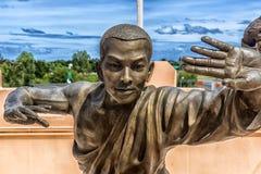 Estatuas de los monjes de Shaolin del chino Imágenes de archivo libres de regalías