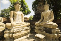 Buddhist meditation statues royalty free stock images