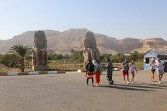Estatuas de Memnon imagen de archivo libre de regalías