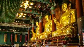 Estatuas de oro de Buda imagen de archivo libre de regalías