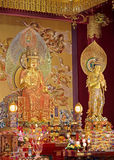 Estatuas de oro de Buda fotografía de archivo