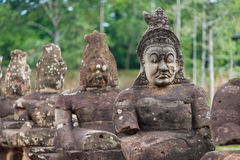 Estatuas de piedra antiguas foto de archivo libre de regalías