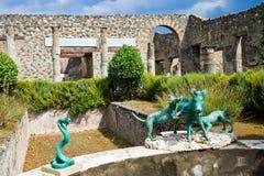 Estatuas de Pompeii Imágenes de archivo libres de regalías