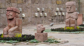 Estatuas del ídolo de Tiwanaku Fotografía de archivo libre de regalías
