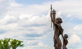Estatuas del banco de Federal Reserve en Kansas City Fotografía de archivo