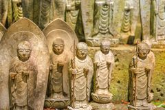 Estatuas del Bodhisattva de Jizo imagen de archivo