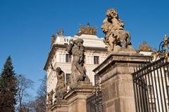 Estatuas del castillo de Prag Fotos de archivo