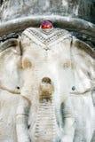 Estatuas del elefante de poste Fotos de archivo