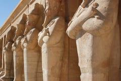 Estatuas del faraón en muerte Foto de archivo