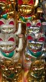 Estatuas del gato Fotos de archivo