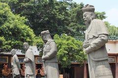 Estatuas del guerrero del guarda en Che Kung Temple Foto de archivo libre de regalías