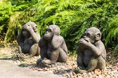 Estatuas del mono foto de archivo