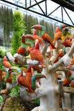 Estatuas del pájaro fotografía de archivo