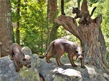 Estatuas del parque zoológico del NC imagen de archivo libre de regalías