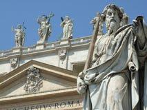 Estatuas del Vaticano Imágenes de archivo libres de regalías