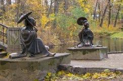 Estatuas en Autumn Park Fotografía de archivo