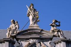 Estatuas en Brujas Foto de archivo libre de regalías