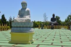 Estatuas en buddhism del templo fotos de archivo libres de regalías