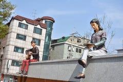 Estatuas en Corea fotografía de archivo