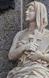 Estatuas en el cementerio de Recolta del La fotografía de archivo