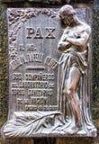 Estatuas en el cementerio de Recolta del La imagen de archivo