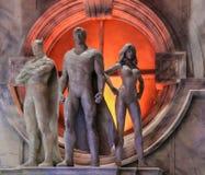 Estatuas en el mundo de la película de Warner Bros., Gold Coast, Australia fotos de archivo